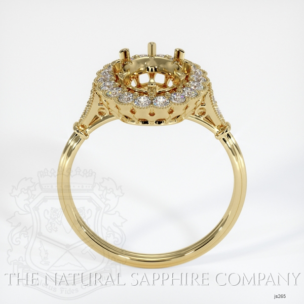 Antique Floral Halo Ring Setting JS265 Image 4