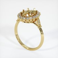 18K Yellow Gold Ring Setting - JS265Y18