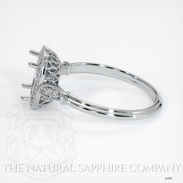 Antique Style Pave Ring Setting JS269 Image 3