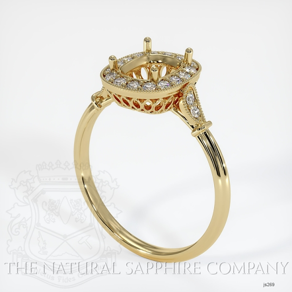 Antique Style Pave Ring Setting JS269 Image