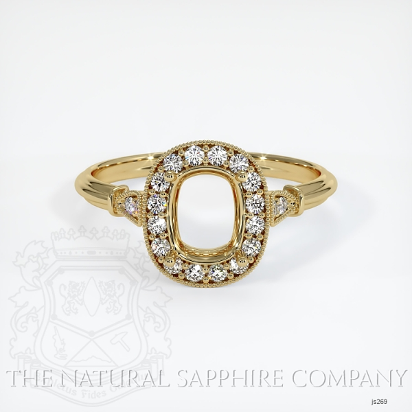 Antique Style Pave Ring Setting JS269 Image 2