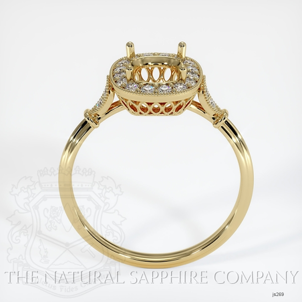 Antique Style Pave Ring Setting JS269 Image 4