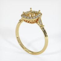 18K Yellow Gold Pave Diamond Ring Setting - JS269Y18