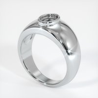 14K White Gold Ring Setting - JS27W14