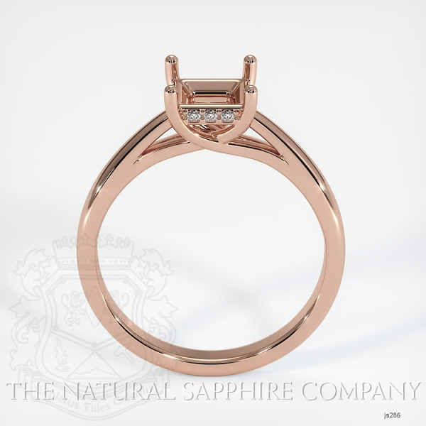 Cathedral Solitaire Ring Setting - Pave Diamond Basket JS286 Image 4