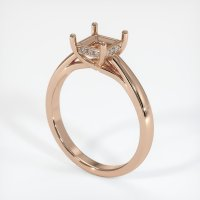 18K Rose Gold Pave Diamond Ring Setting - JS286R18