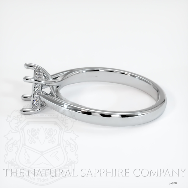 Cathedral Solitaire Ring Setting - Pave Diamond Basket JS286 Image 3