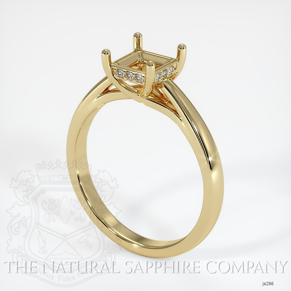 Cathedral Solitaire Ring Setting - Pave Diamond Basket JS286 Image
