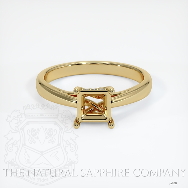 Cathedral Solitaire Ring Setting - Pave Diamond Basket JS286 Image 2