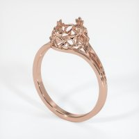 14K Rose Gold Ring Setting - JS29R14