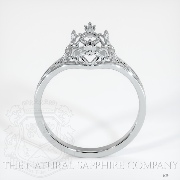 Antique Style Solitaire Ring Setting JS29 Image 4