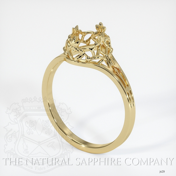 Antique Style Solitaire Ring Setting JS29 Image