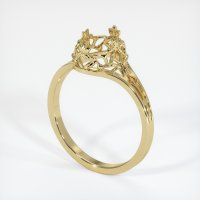 14K Yellow Gold Ring Setting - JS29Y14