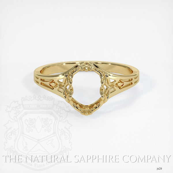 Antique Style Solitaire Ring Setting JS29 Image 2