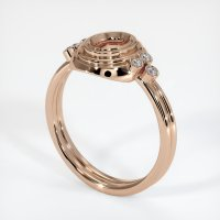 18K Rose Gold Ring Setting - JS305R18
