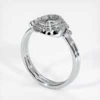 14K White Gold Ring Setting - JS305W14