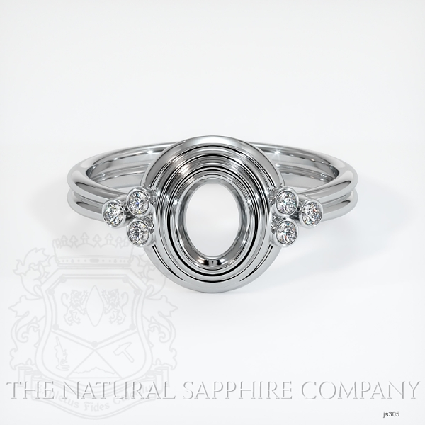 Antique Bezel Set Ring - Diamond Cluster Band JS305 Image 2