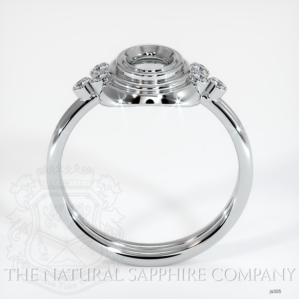 Antique Bezel Set Ring - Diamond Cluster Band JS305 Image 4