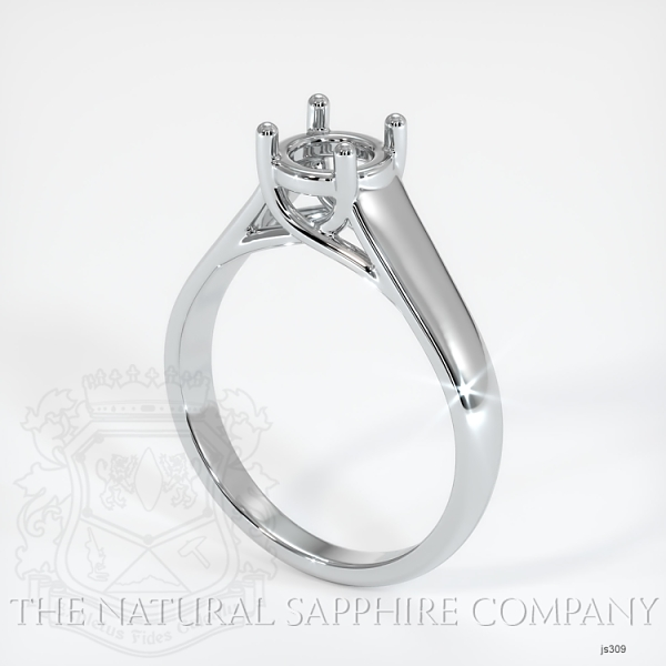 4 Prong Solitaire Trellis Setting - Wide Band JS309 Image
