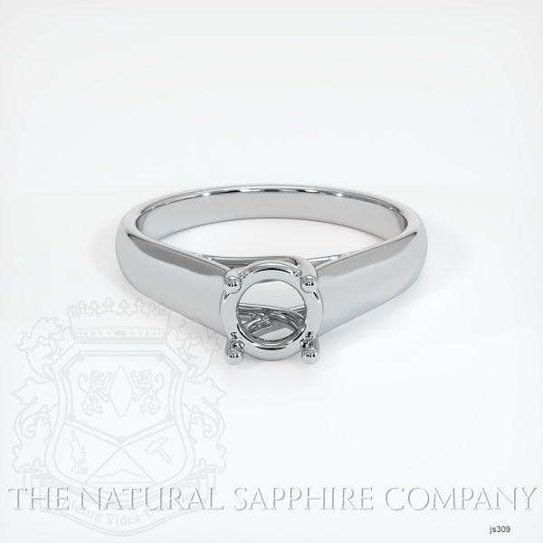 4 Prong Solitaire Trellis Setting - Wide Band JS309 Image 2