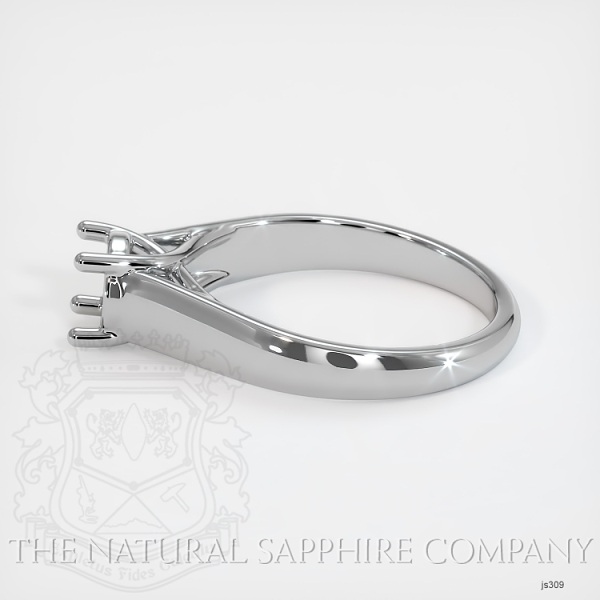 4 Prong Solitaire Trellis Setting - Wide Band JS309 Image 3