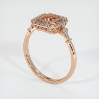 18K Rose Gold Pave Diamond Ring Setting - JS311R18