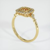 18K Yellow Gold Pave Diamond Ring Setting - JS311Y18