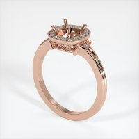 14K Rose Gold Pave Diamond Ring Setting - JS312R14