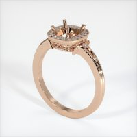 18K Rose Gold Pave Diamond Ring Setting - JS312R18