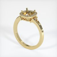 14K Yellow Gold Pave Diamond Ring Setting - JS312Y14