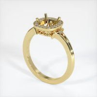 18K Yellow Gold Pave Diamond Ring Setting - JS312Y18