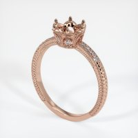 14K Rose Gold Pave Diamond Ring Setting - JS314R14