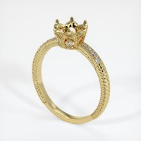 18K Yellow Gold Pave Diamond Ring Setting - JS314Y18
