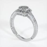 Platinum 950 Pave Diamond Ring Setting - JS316PT