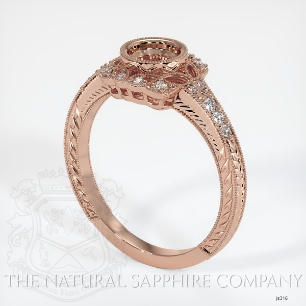 Antique Style Diamond Halo Ring JS316 Image