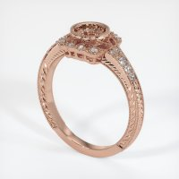 14K Rose Gold Pave Diamond Ring Setting - JS316R14