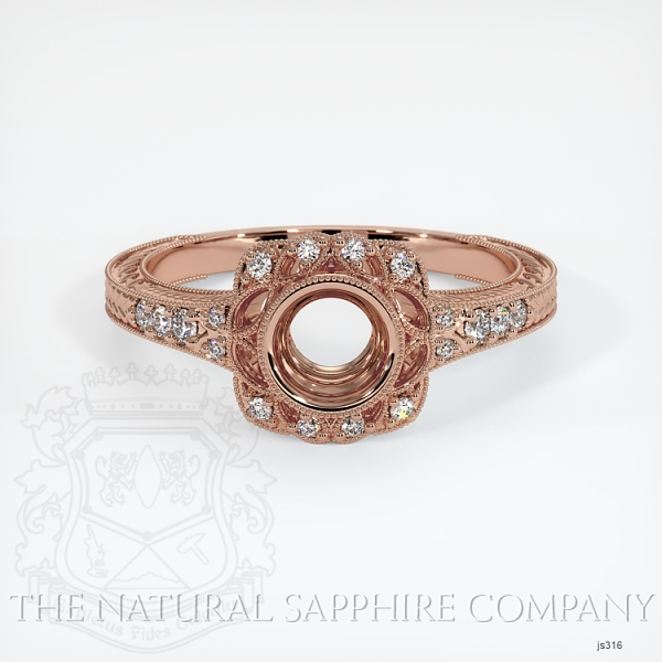 Antique Style Diamond Halo Ring JS316 Image 2
