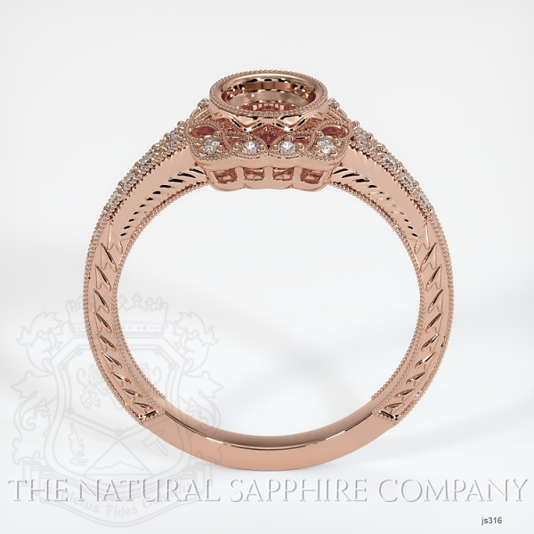 Antique Style Diamond Halo Ring JS316 Image 4