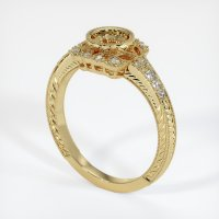 14K Yellow Gold Pave Diamond Ring Setting - JS316Y14