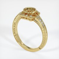 18K Yellow Gold Pave Diamond Ring Setting - JS316Y18