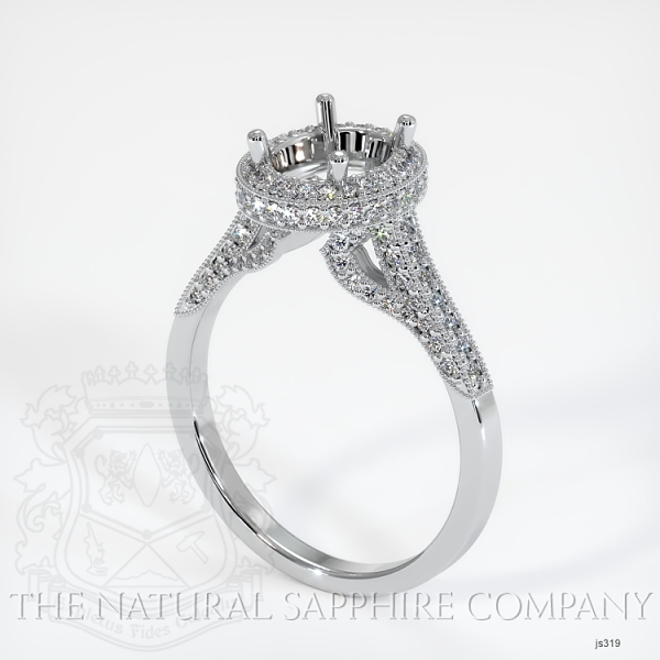 Antique Style Pave Ring Setting JS319 Image