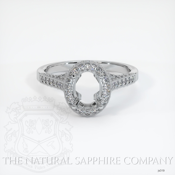 Antique Style Pave Ring Setting JS319 Image 2