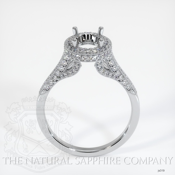 Antique Style Pave Ring Setting JS319 Image 4