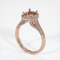 14K Rose Gold Pave Diamond Ring Setting - JS319R14