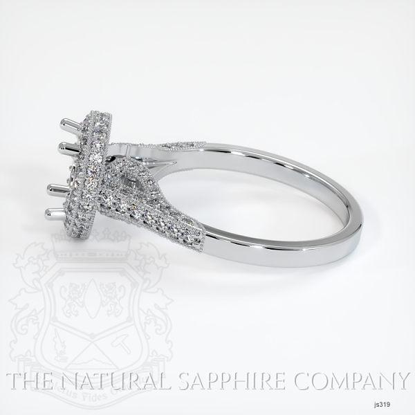 Antique Style Pave Ring Setting JS319 Image 3