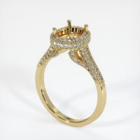 14K Yellow Gold Pave Diamond Ring Setting - JS319Y14