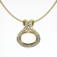 14K Yellow Gold Pave Diamond Pendant Setting - JS331Y14