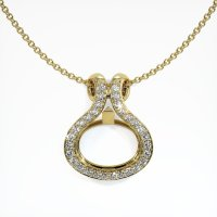 18K Yellow Gold Pave Diamond Pendant Setting - JS331Y18