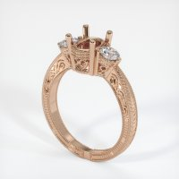 18K Rose Gold Ring Setting - JS335R18
