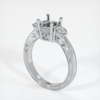 14K White Gold Ring Setting - JS335W14
